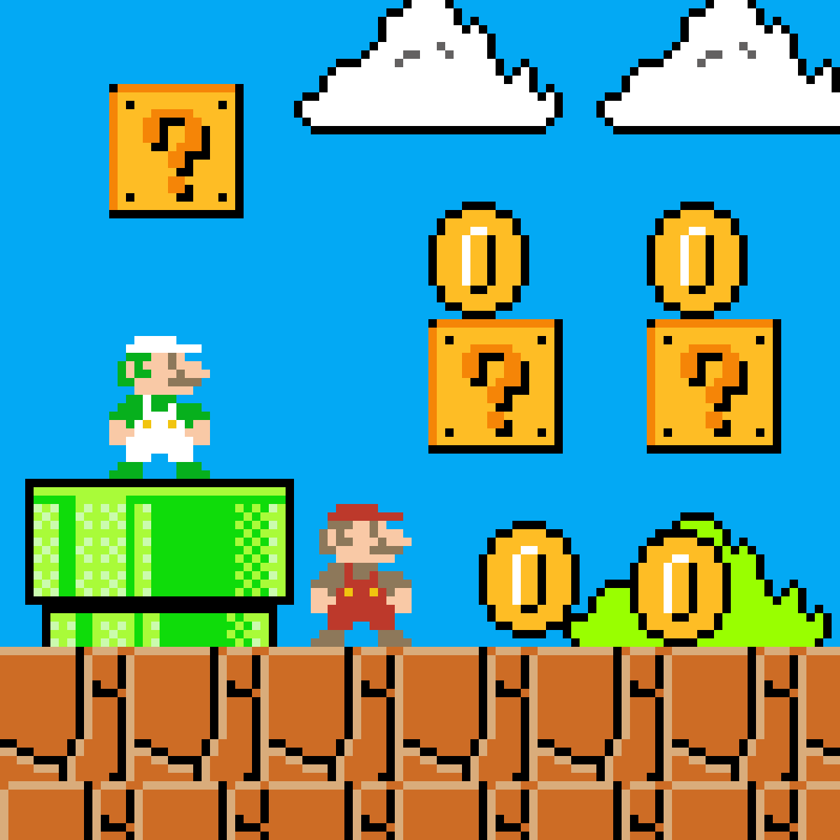 main-image-SUPER MARIO BROS  by DrawingPixelPro