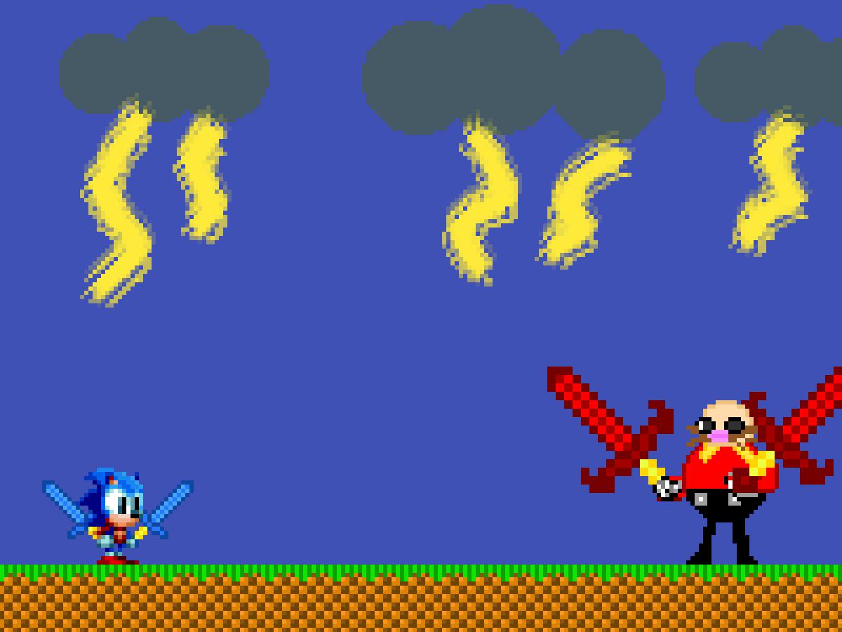 Sonic vs Eggman final battle by trusin