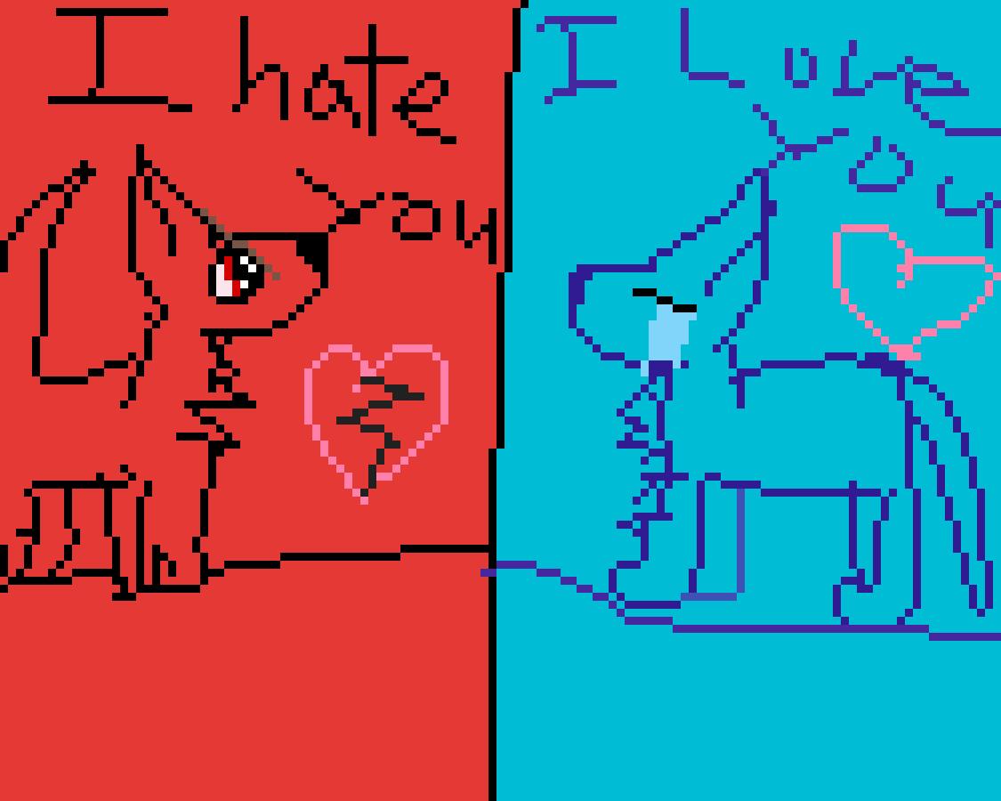 main-image-I hate you I love you  by sparkleshywolf