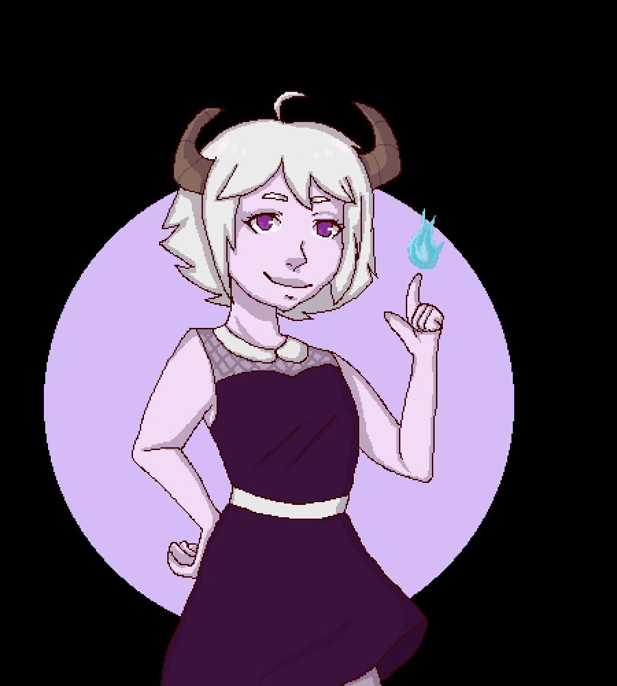 Cute demon girl by lajllatar37