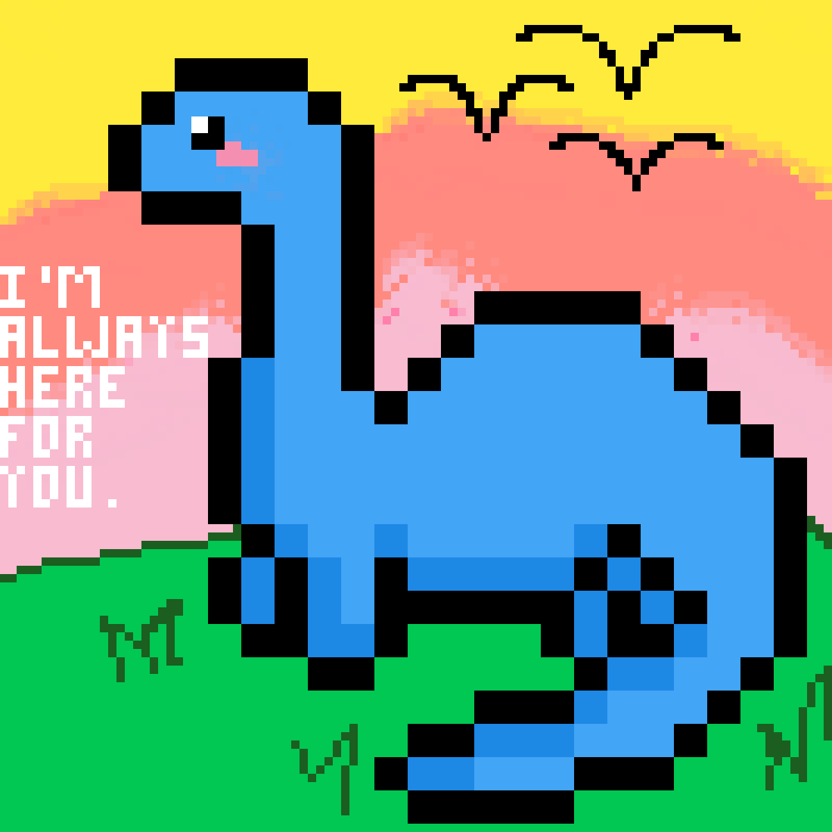Dinosaur Is Here For You <3 by PusheenTheCat