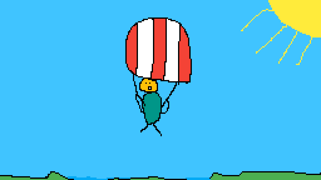 Parachuting person by 4804286696