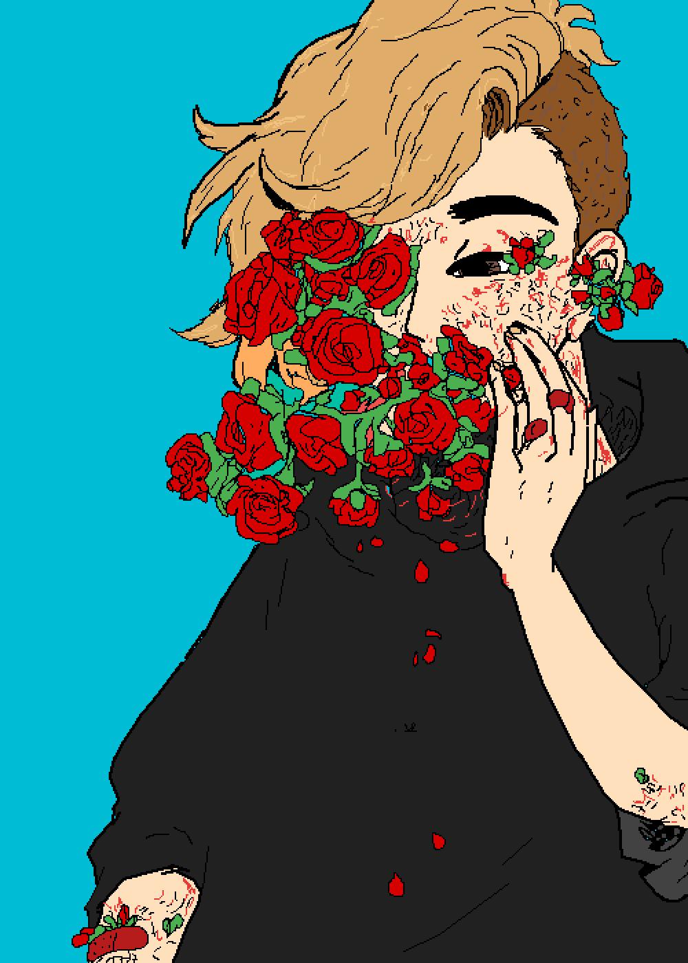"""""""Me rose flower gore"""" !!!Warning!!! Gore"""