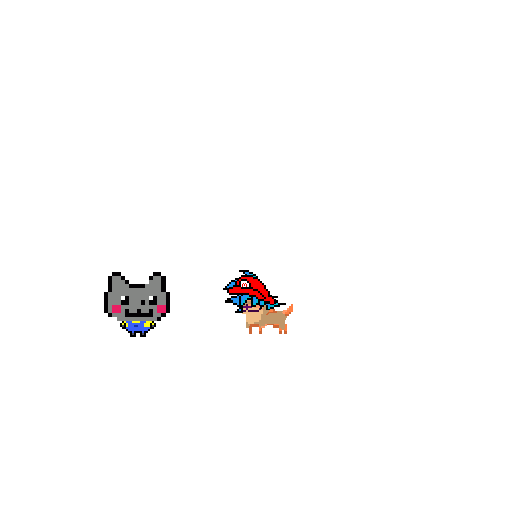 nyan minion & mario goku doge by UphawuArmy