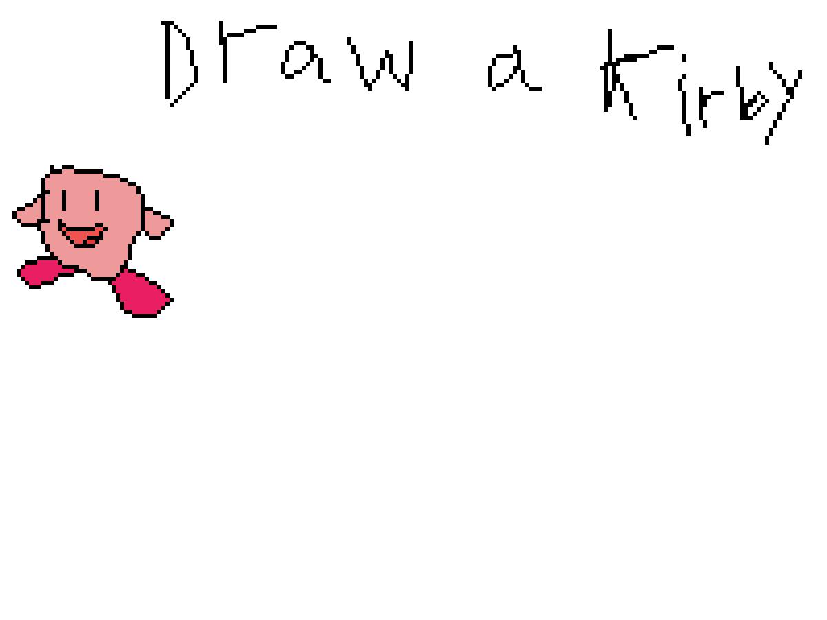 draw a kirby by DoodlePug4498