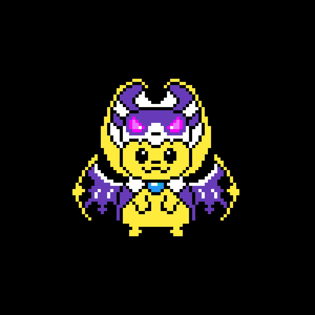 Pixilart Lunala Pikachu By Anonymous