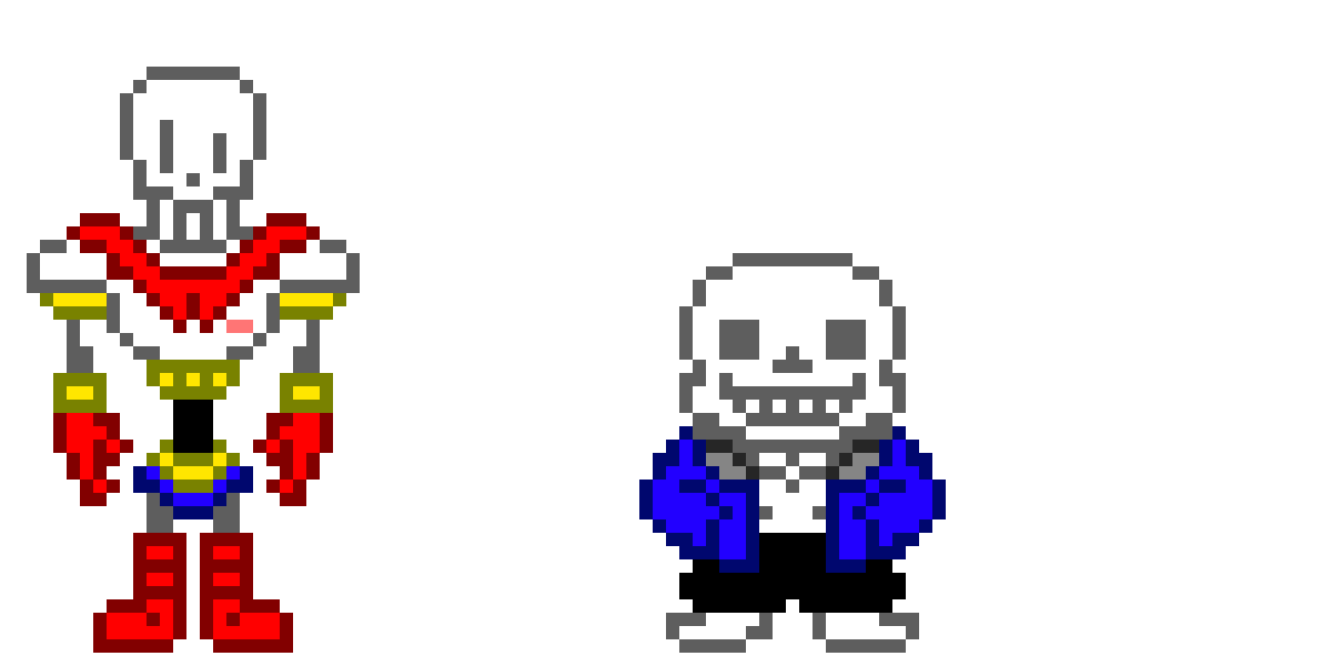 Sans and papyrus by DuncanBoy