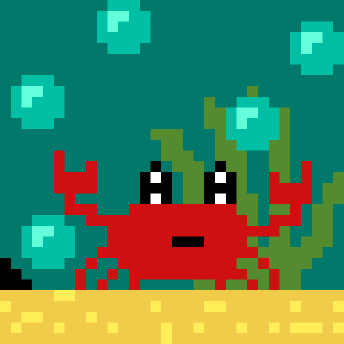 Crab under the sea by ZelfIsCeecy