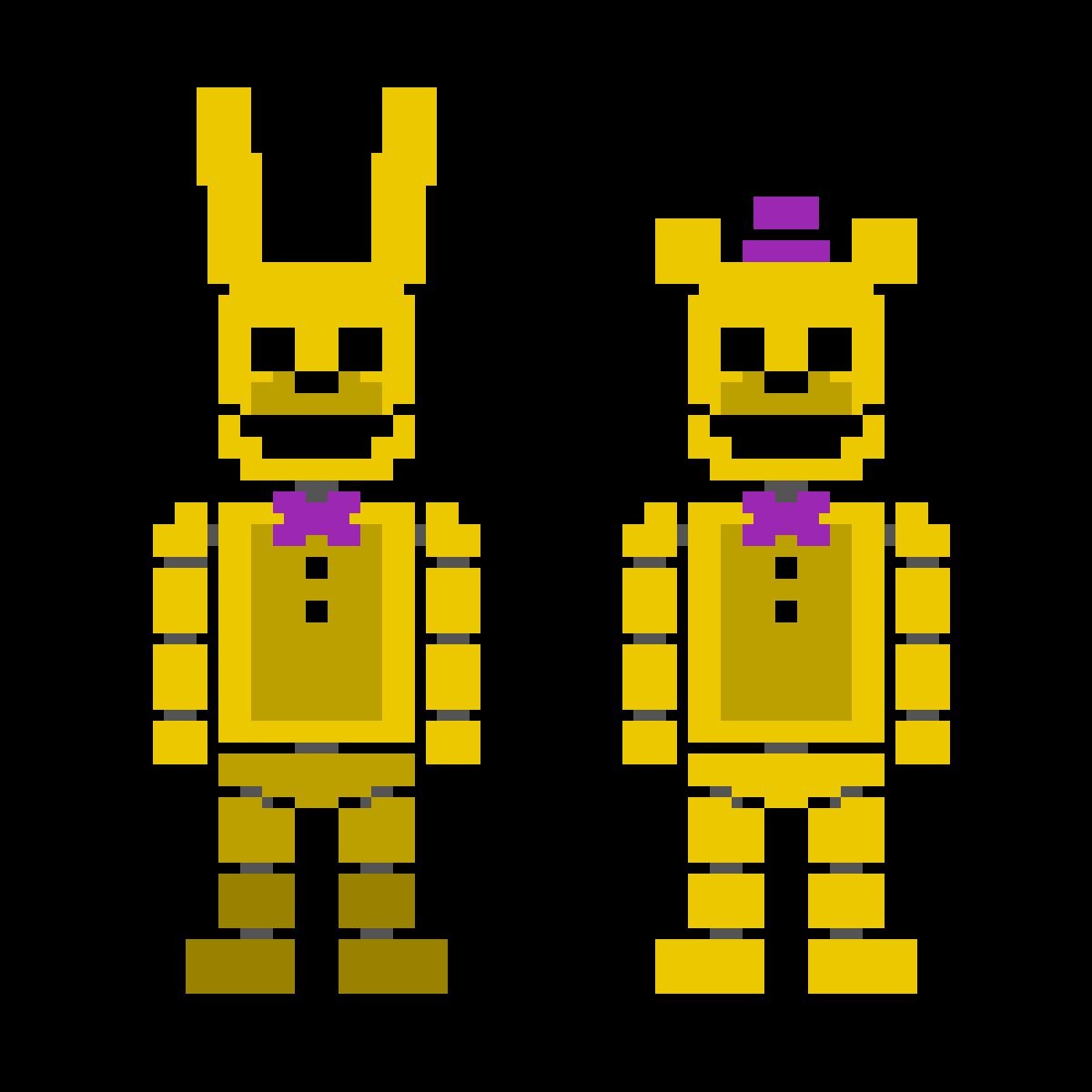 Fredbear and Spring Bonnie (fandom edition) by crazycreeper529
