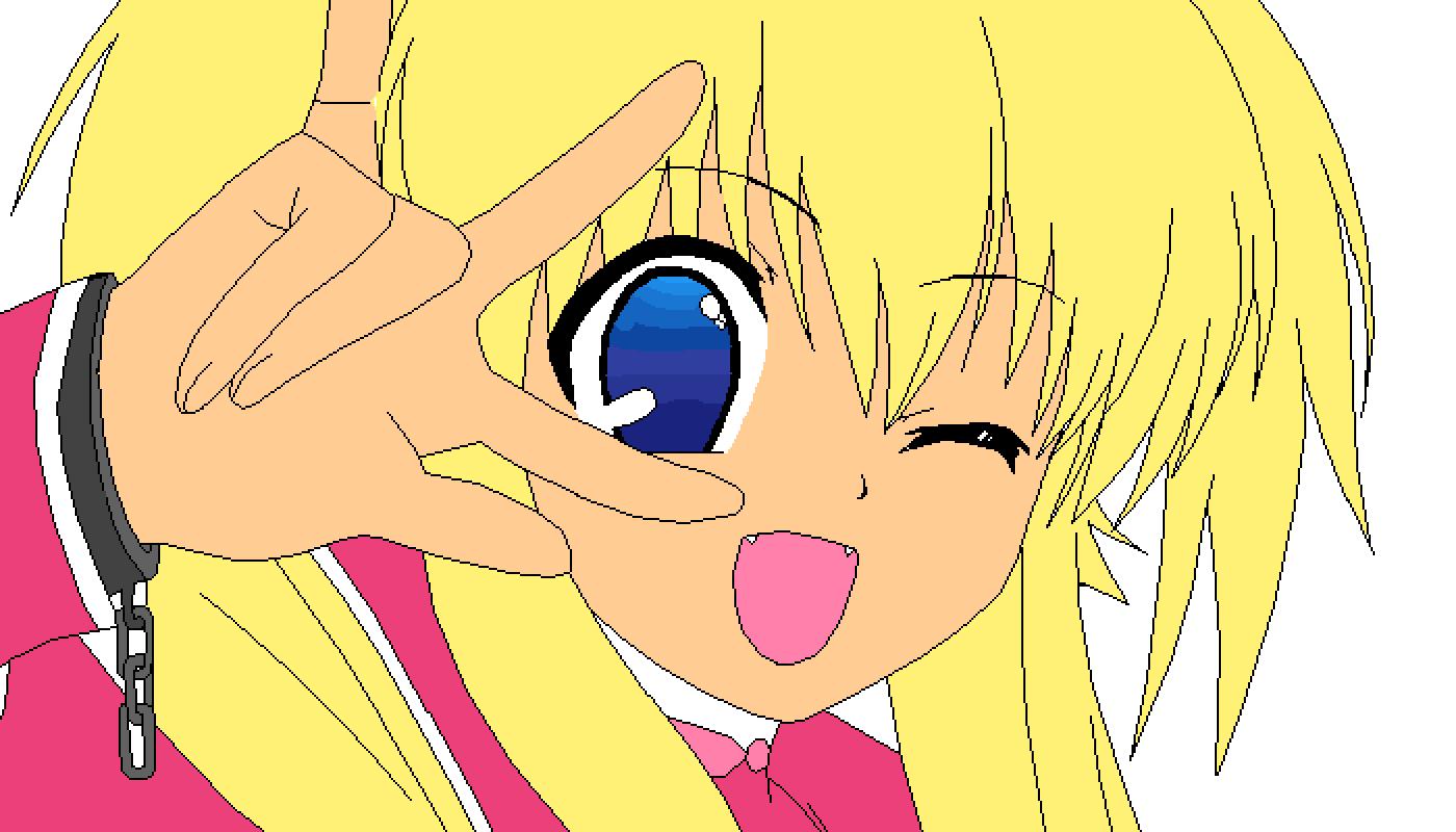 Anime girl by TheWolfGirl