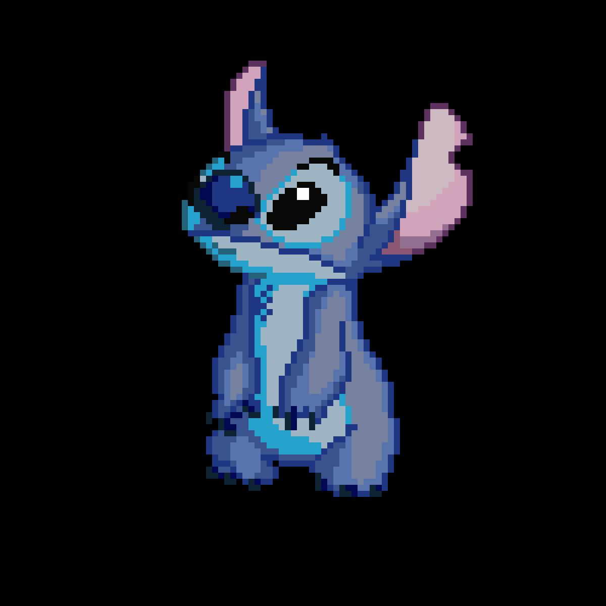Pixilart Pixel Art Stitch By Jameschamb