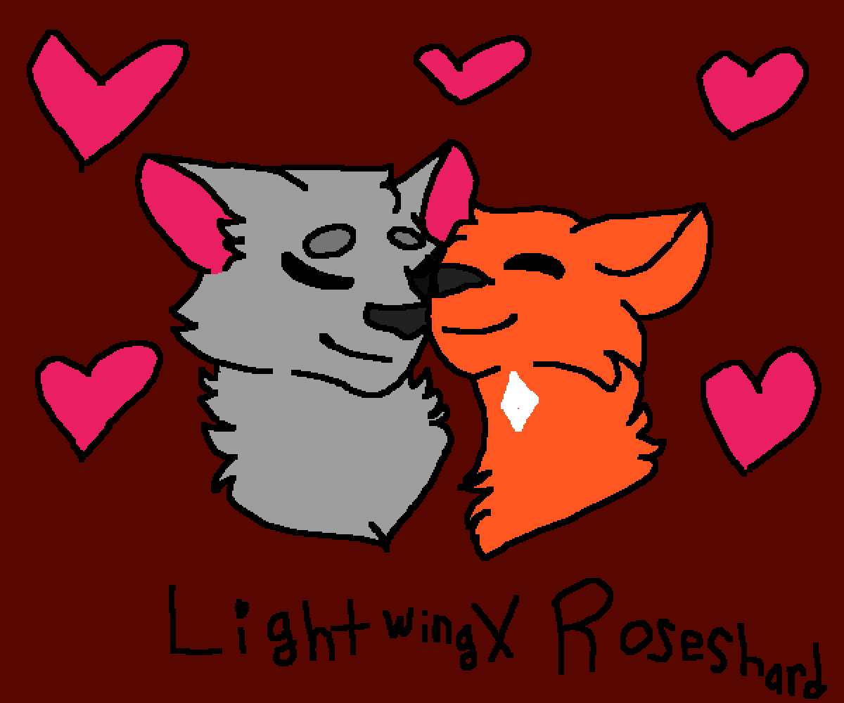 Lightwing x Roseshard  by Crazy-and-emo