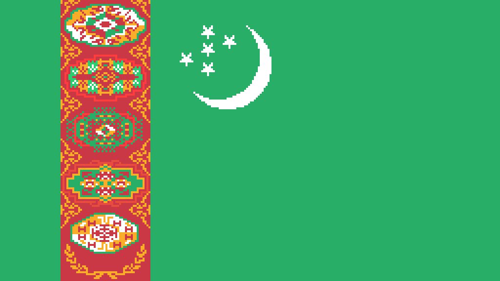 main-image-Flag of  Turkmenistan  by KOMBATENT