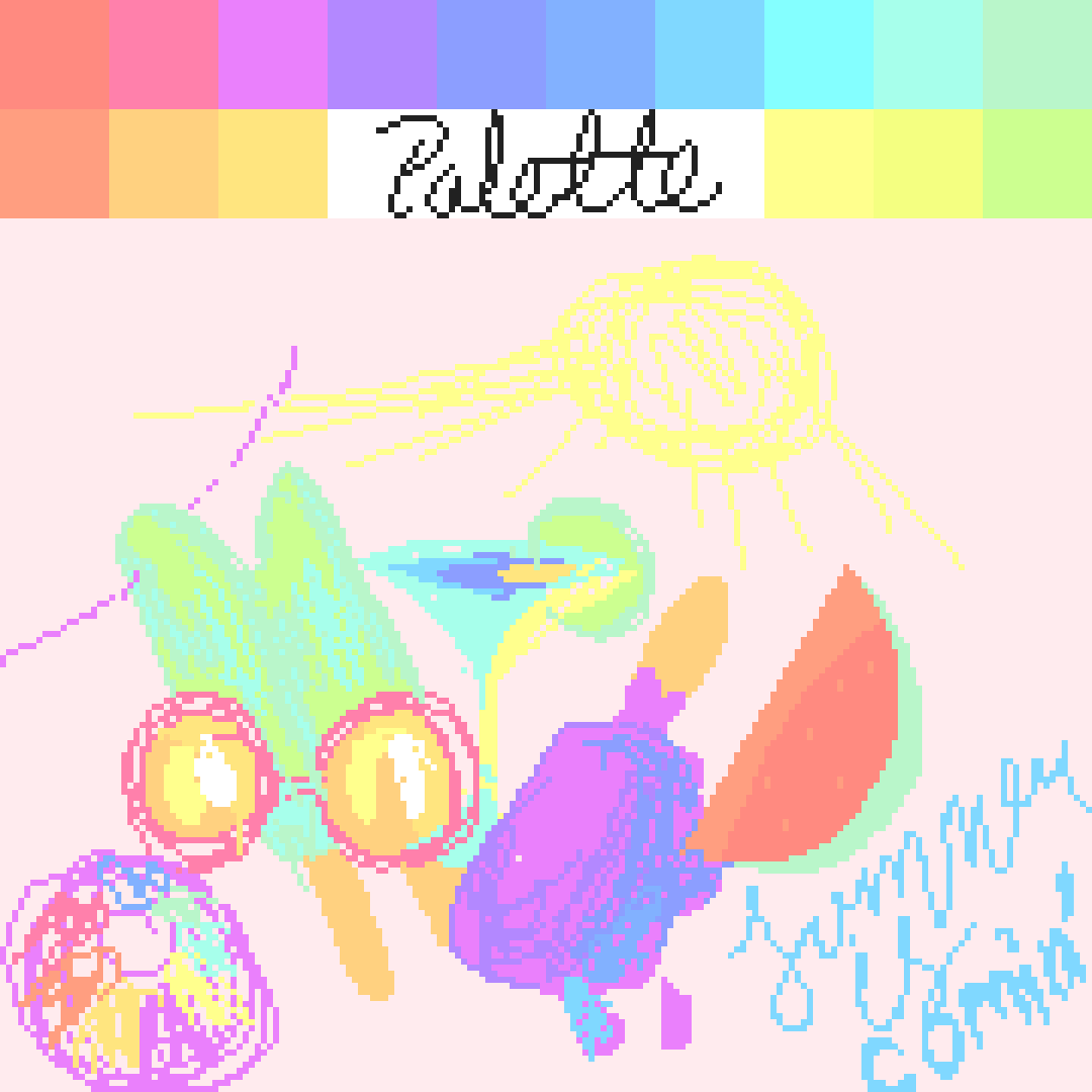 Pastel Palette Challenge | Summer is Comin'! by PotatoSquad