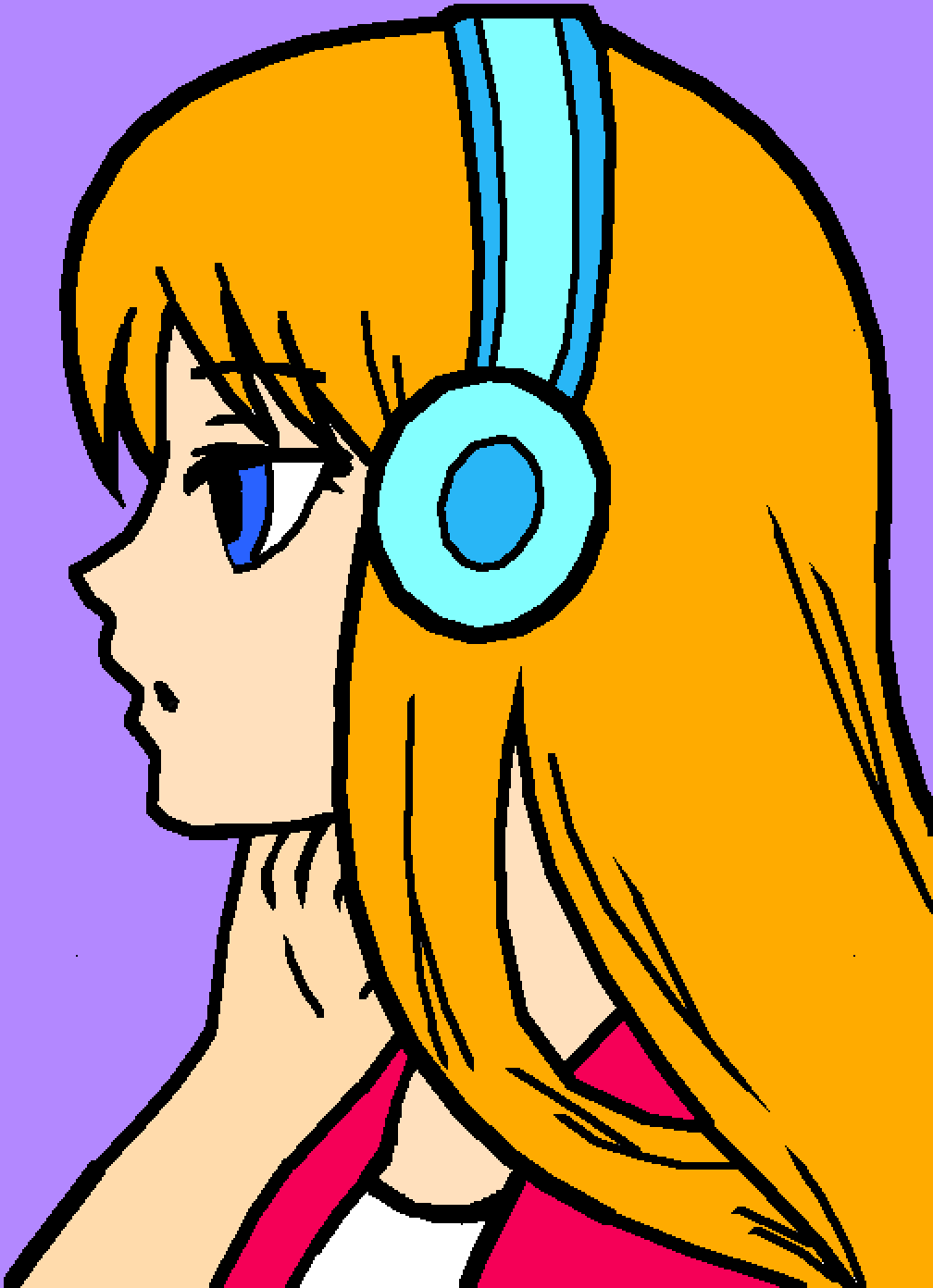 Listening to music by ilovehorses123