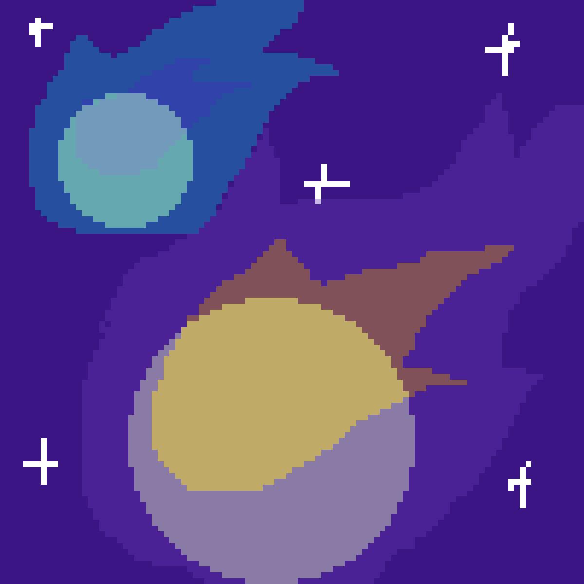 Two Unknown Comets  by XxLazyLizzy22xX