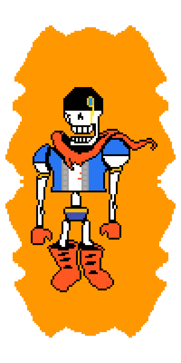 Pixilart - Disbelief: Hard Mode Phase 3 Papyrus by Compact