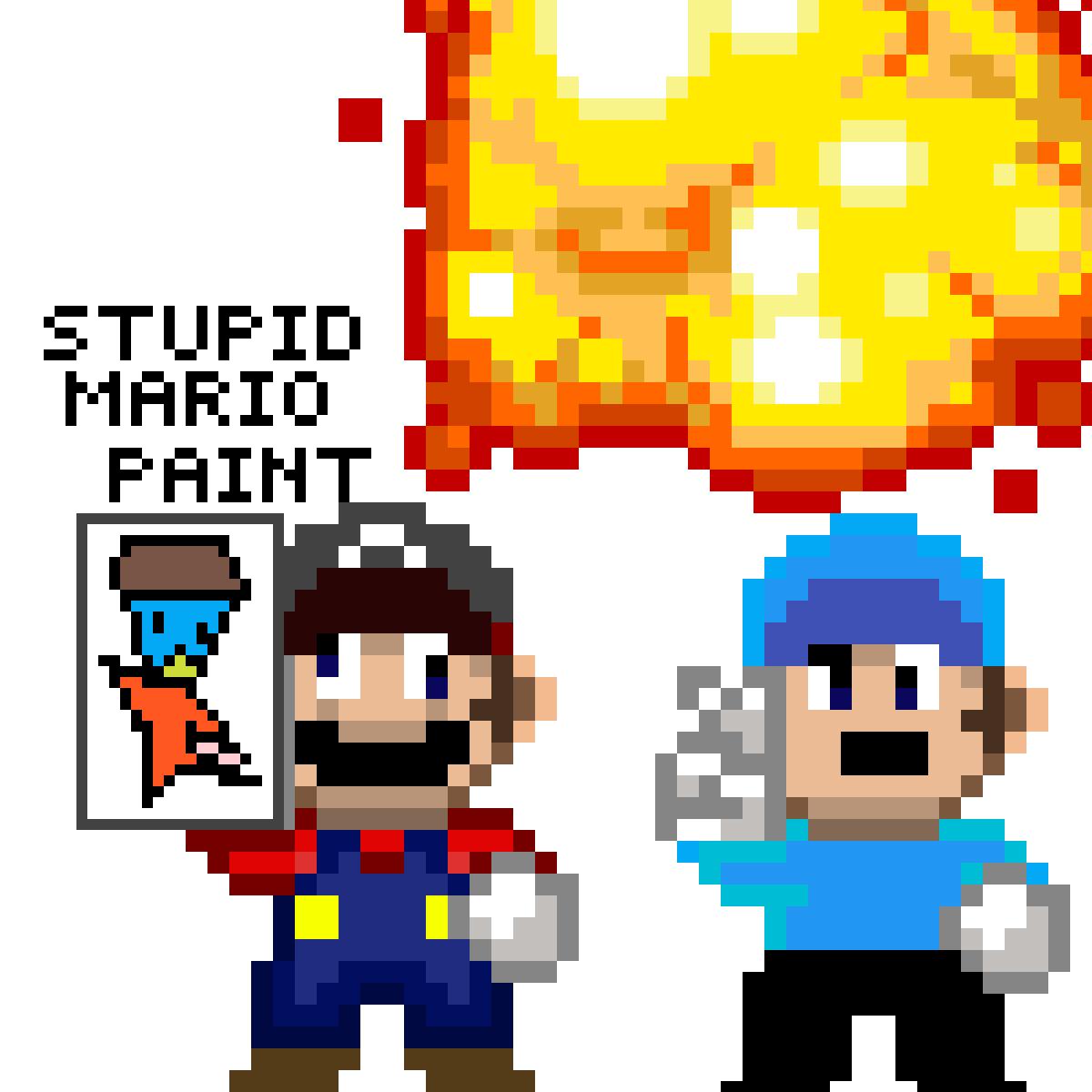 stupid mario paint by emicrak-pro99