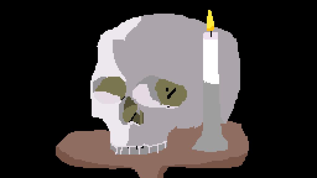 a skull by sonicfan10009