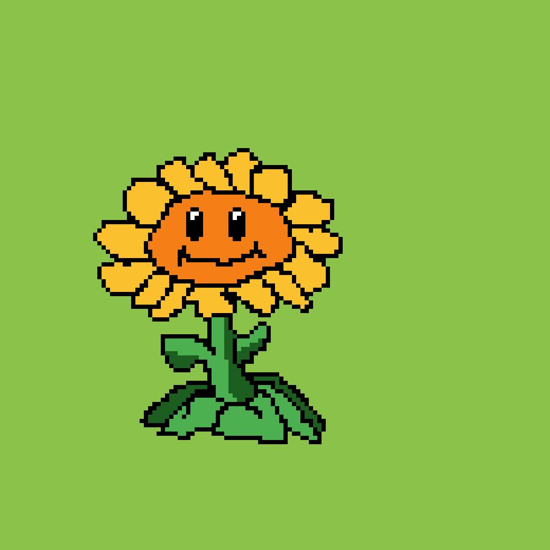 Pixilart - Sunflower PVZ by ButterPixel553