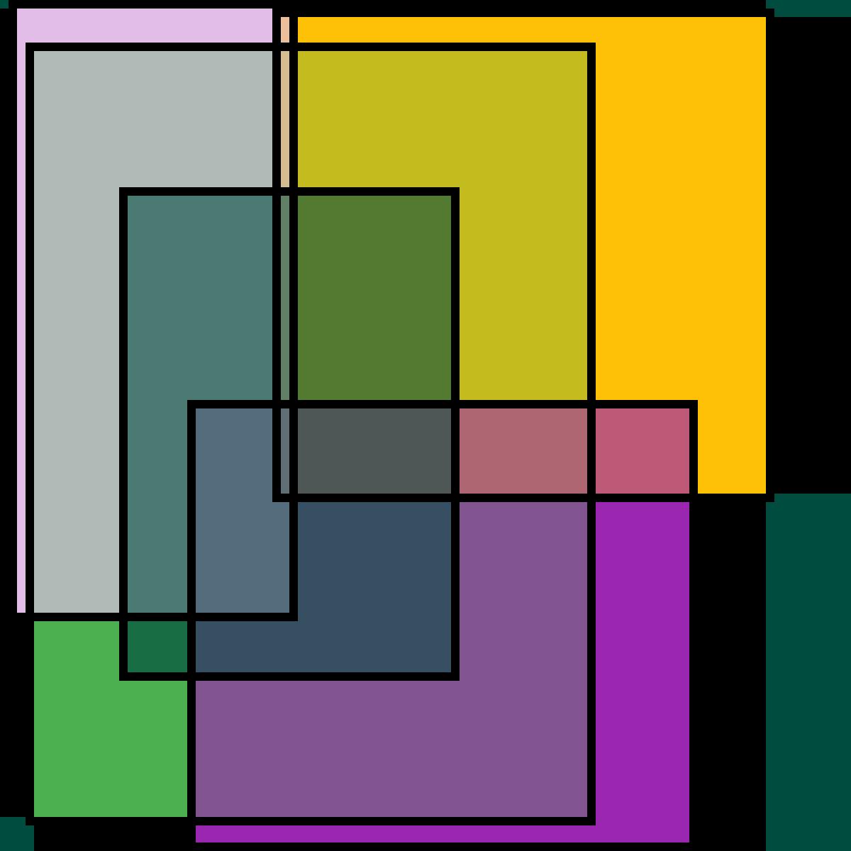 Transparent Rainbow Squares by PrincessPika