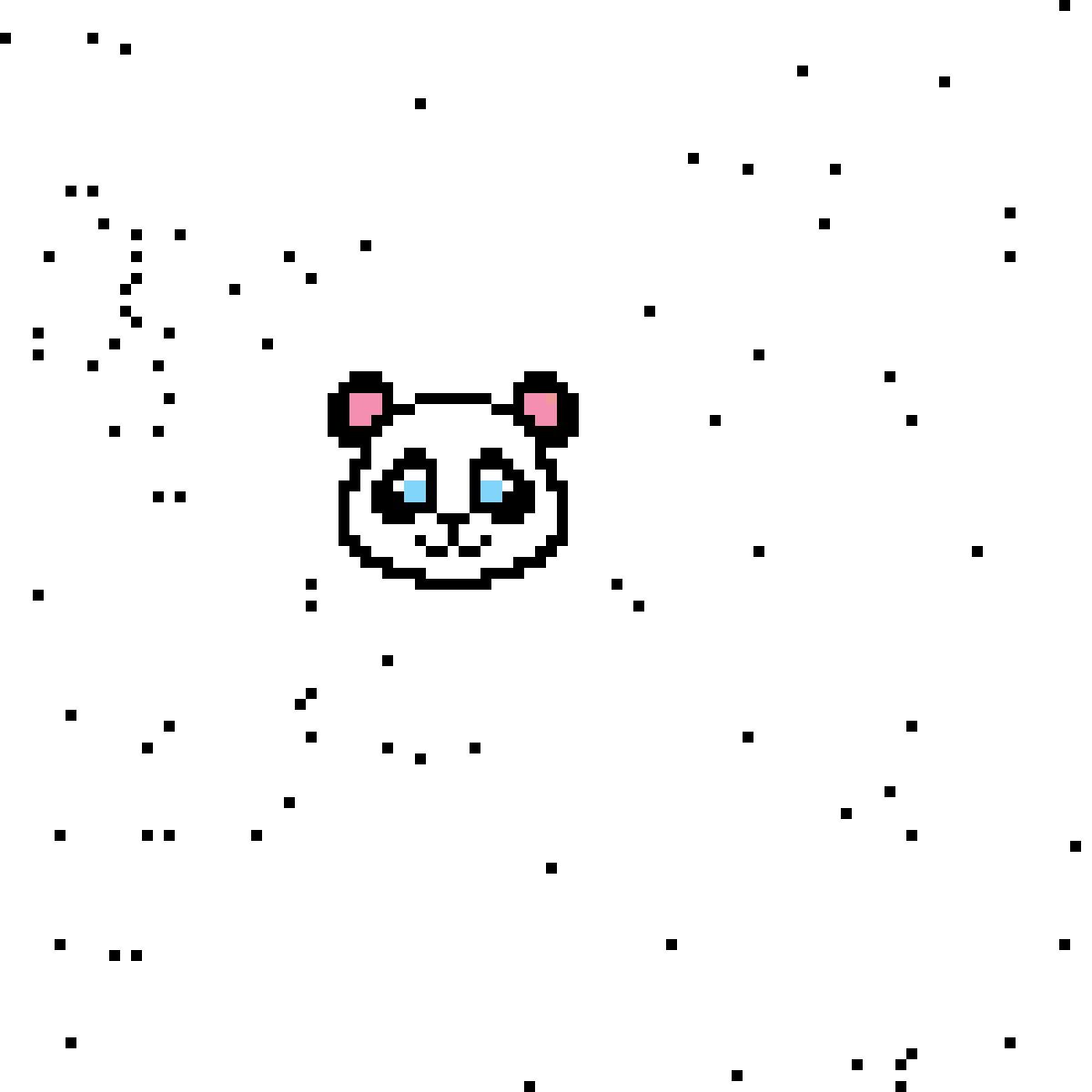Pixilart Pixel Art Panda By Anonymous