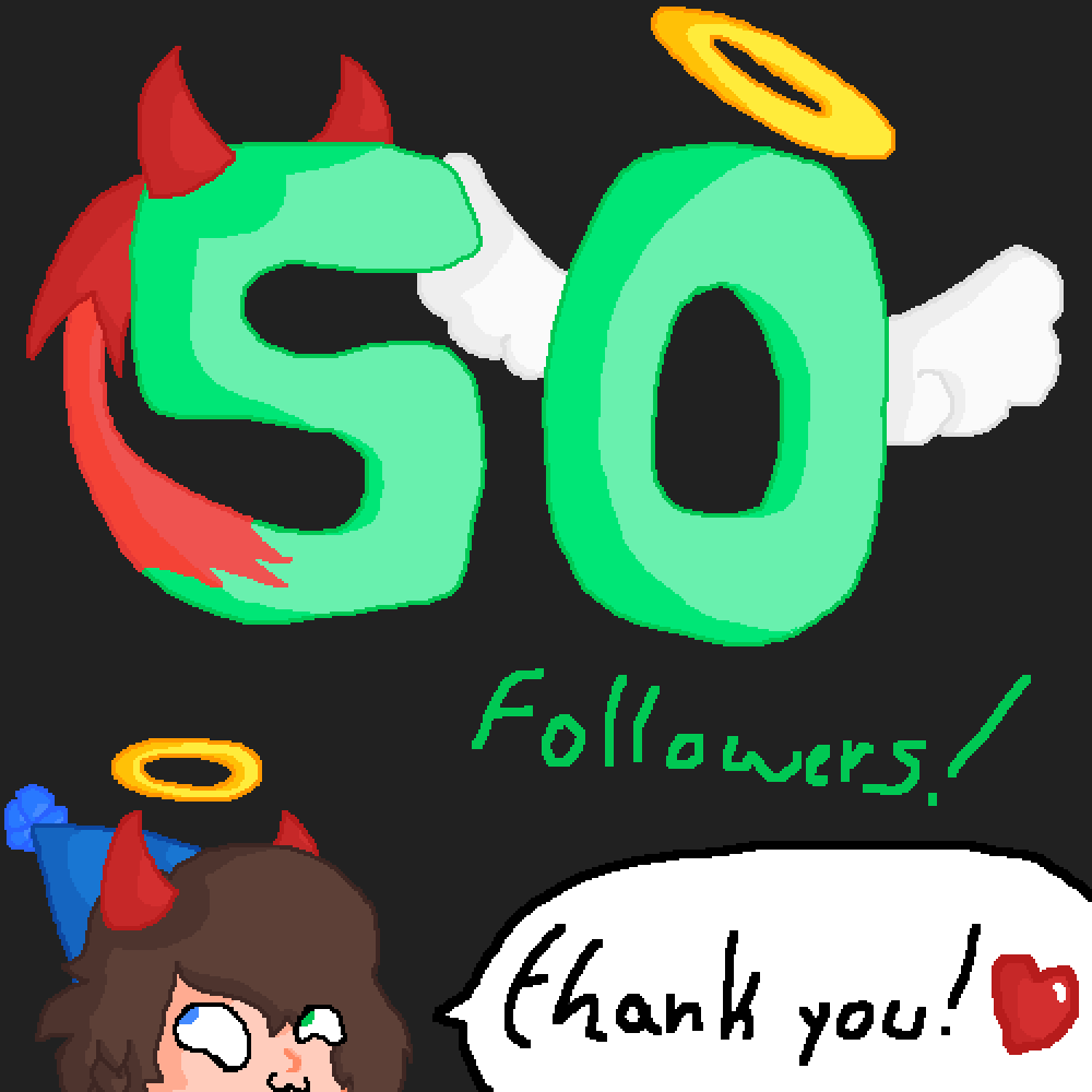 Thank you for 50 followers! by TheFallenAngel