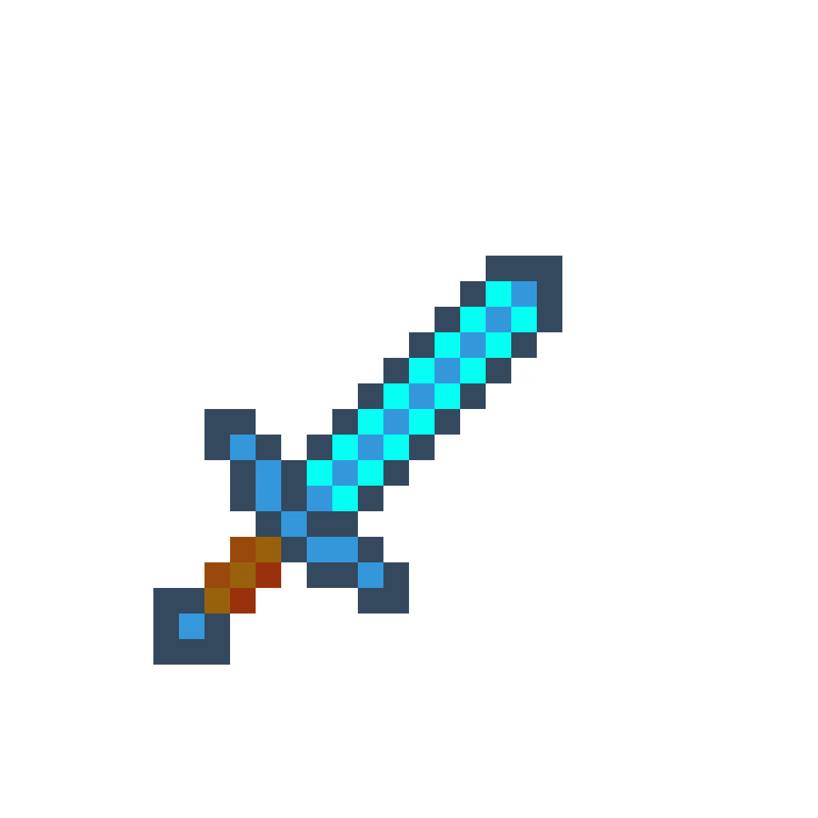 diamond axe pixel art -