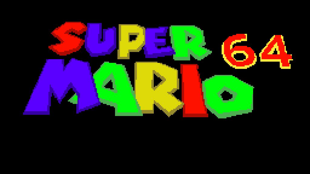 Super Mario 64 Title screen