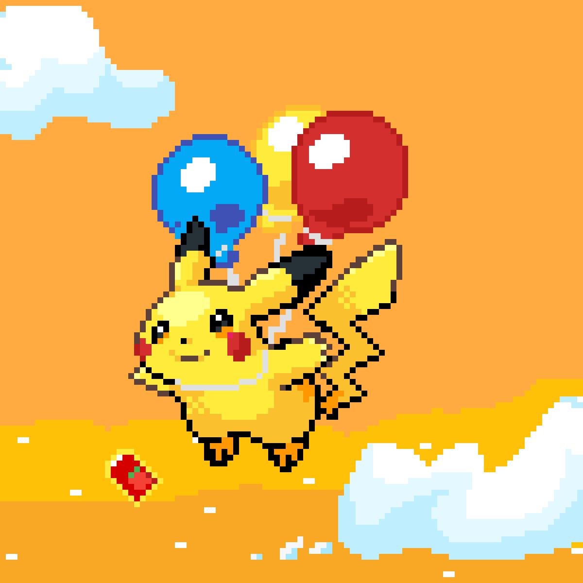 Pikachu's Air Trip by TheWildPikachu