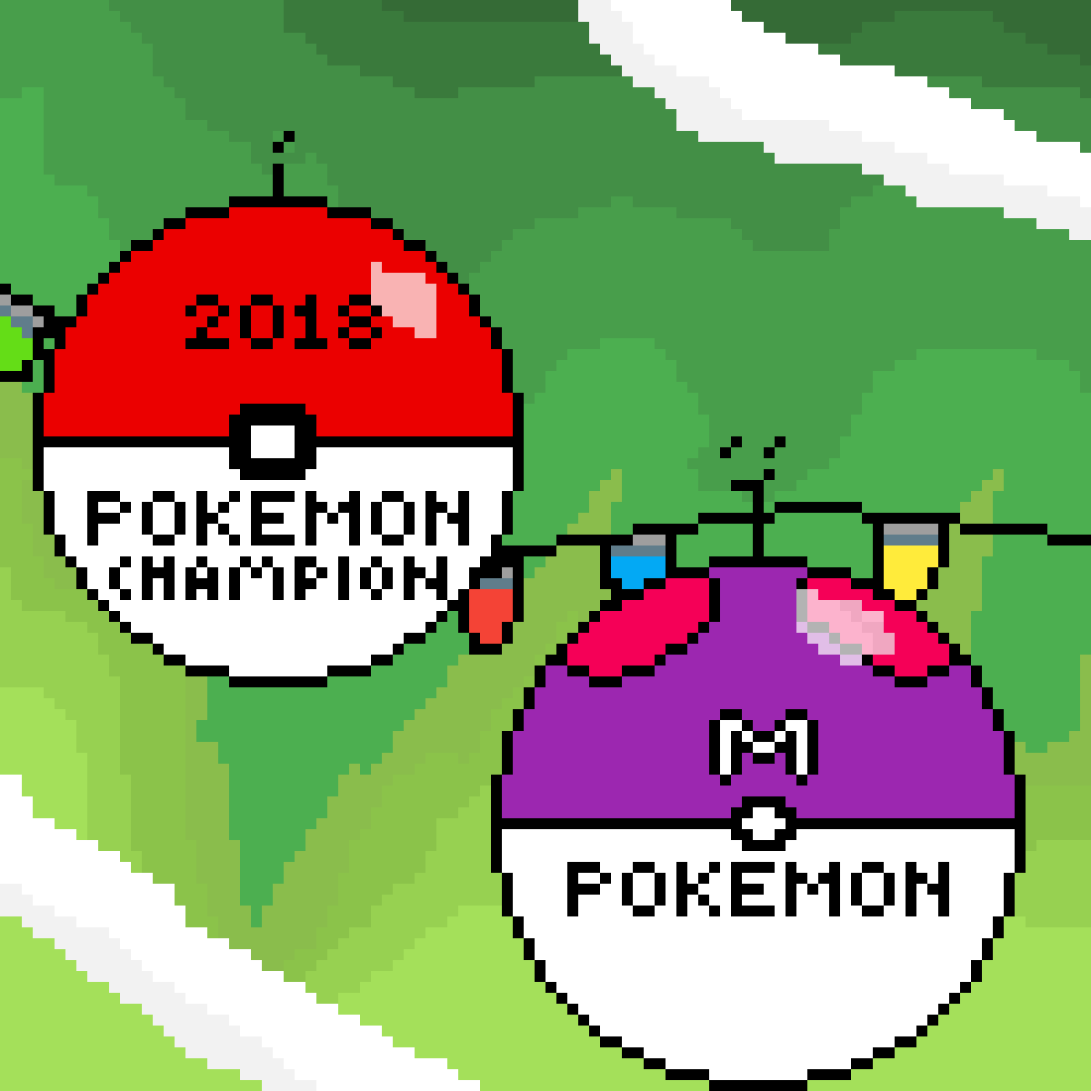 Pokeball Ornaments