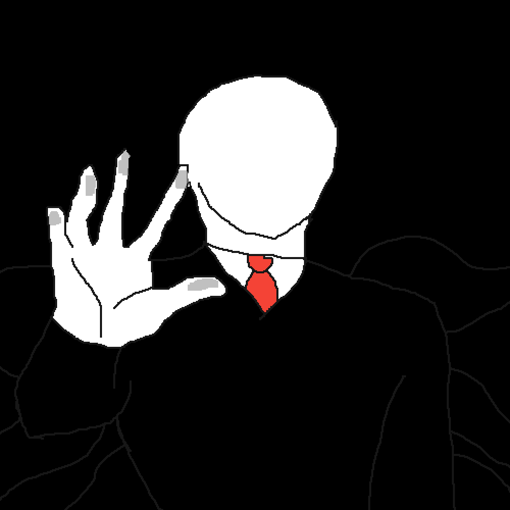 Slender touching your screen