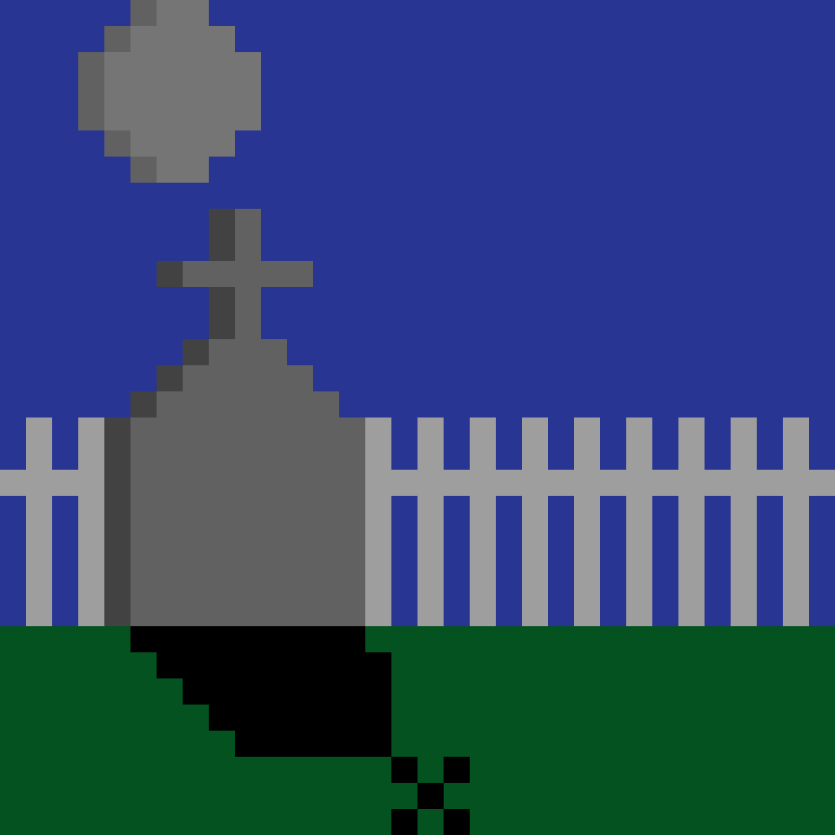 A graveyard by A-drawer