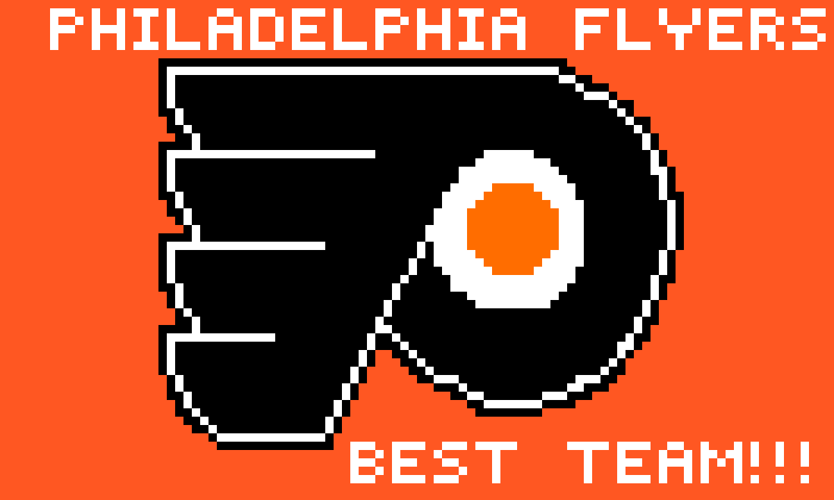 Philadelphia flyers. Drawing #2 by Sharkie07
