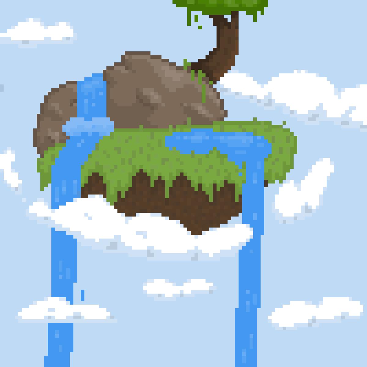 Floating island  by Yucker