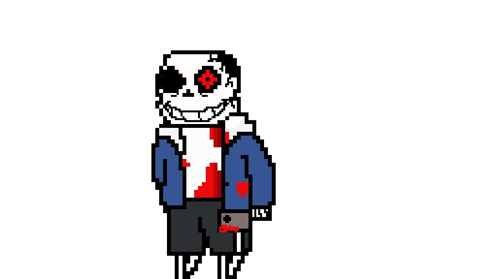 Pixilart - horrortale sans by Anonymous