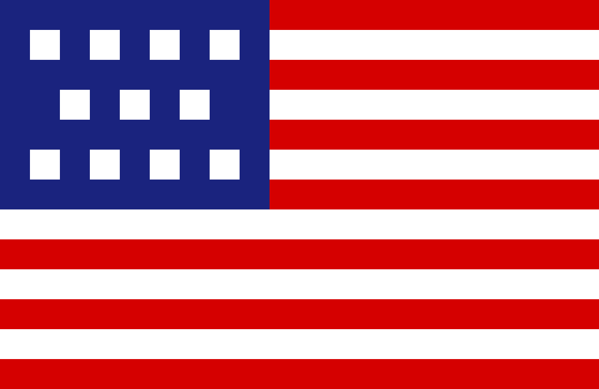 American flag by PixelNArt