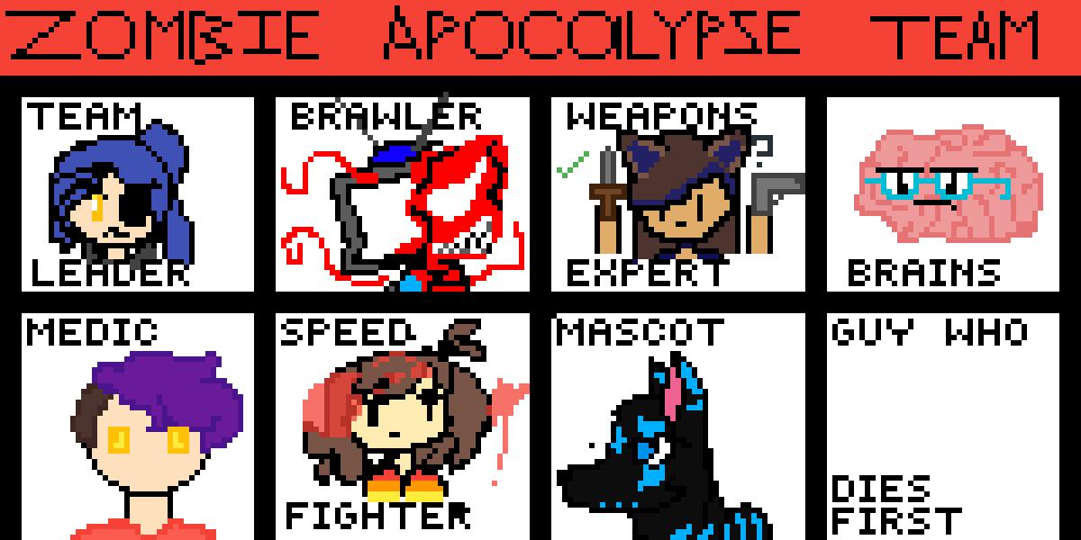 zombie apocalypse collab by pika-kiju