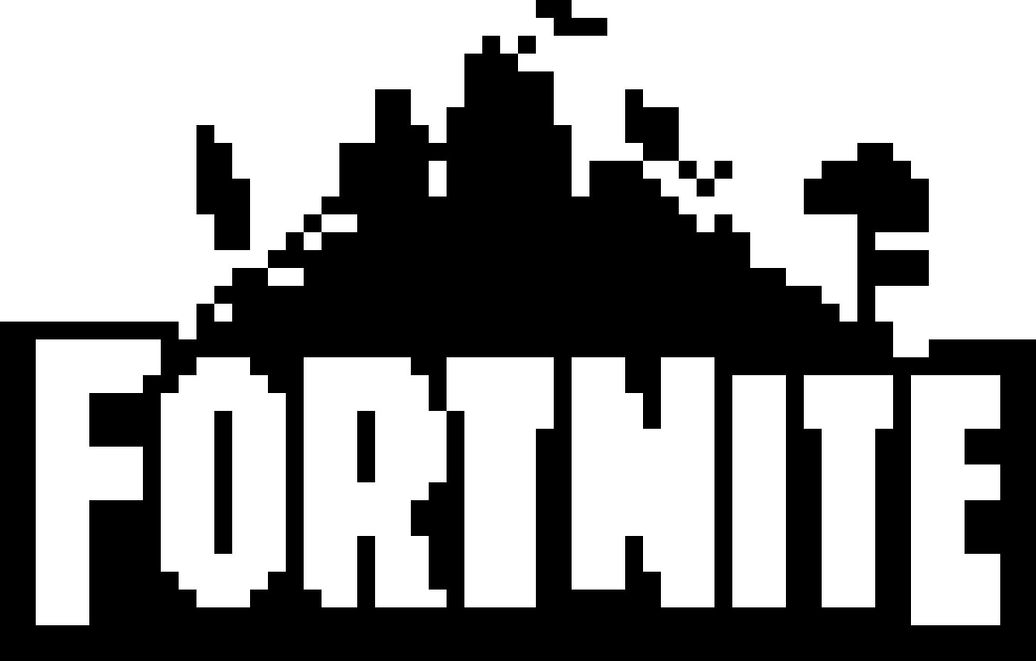 Pixilart Fortnite Logo By Kingofjeffyness