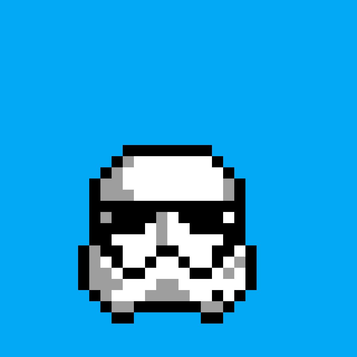 Pixilart Stormtrooper Pixel Art By Kaio Romanini