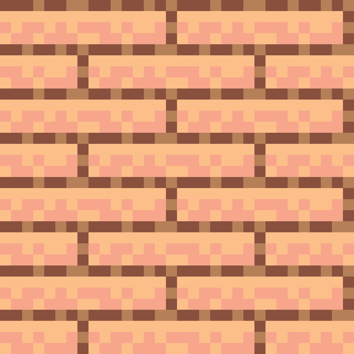 A tileable brick pixelart image