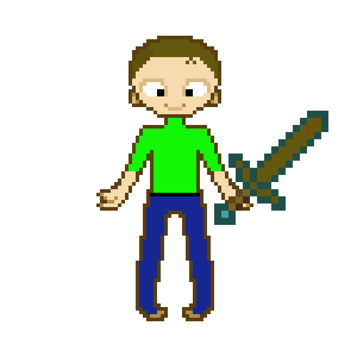 me with poo sword  by Dmangames7