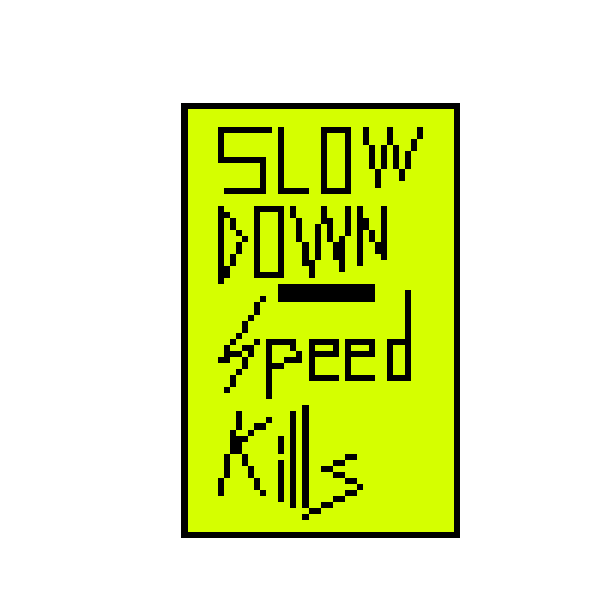 Slow - street sign by Terminators