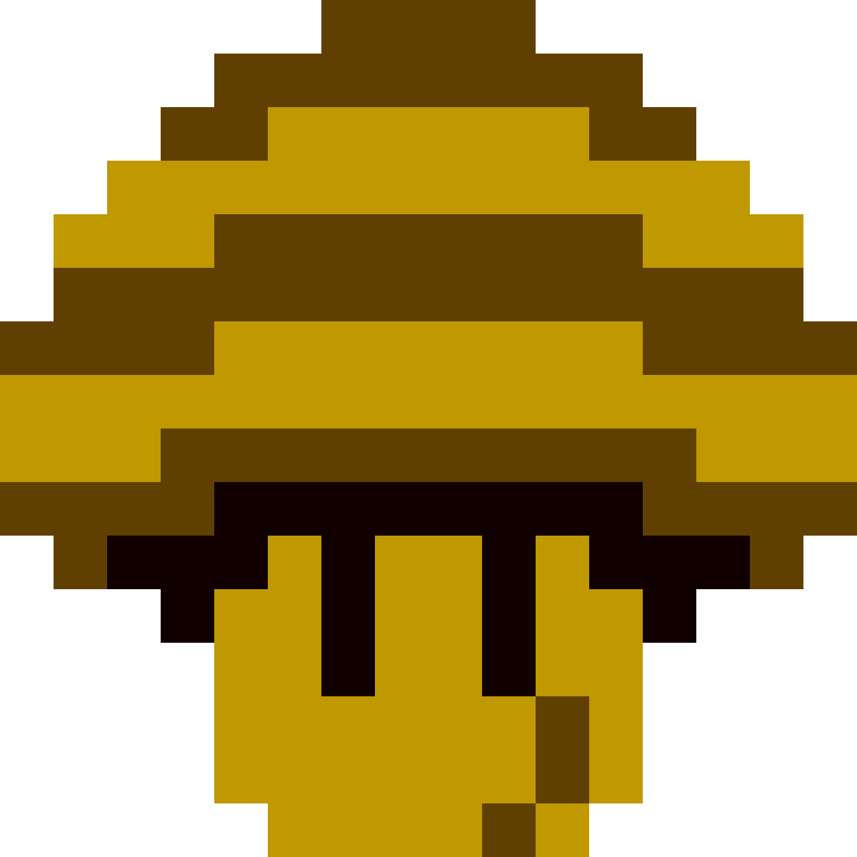 Bee Mushroom from Super Mario Galaxy (NES-style) by Chikorita-Lover