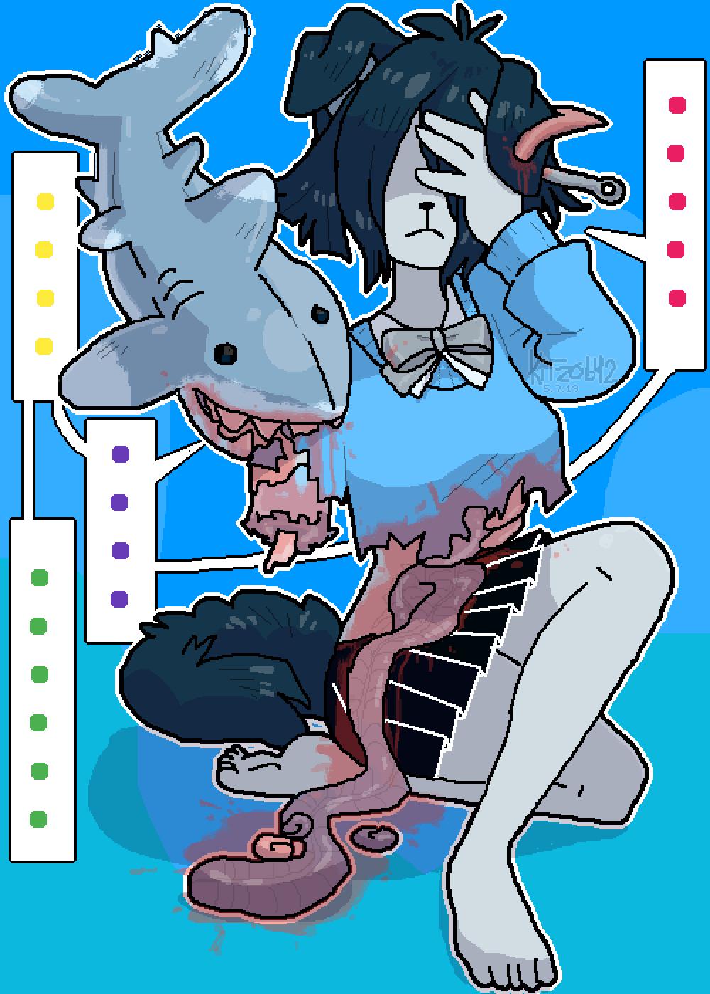 Shark attack by Kitzo642