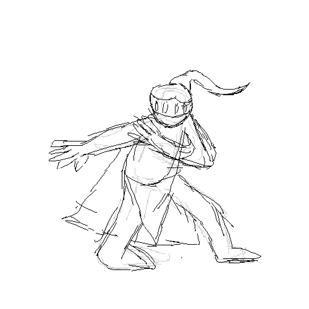 Pixilart Pixel Knight Sketch By Cate