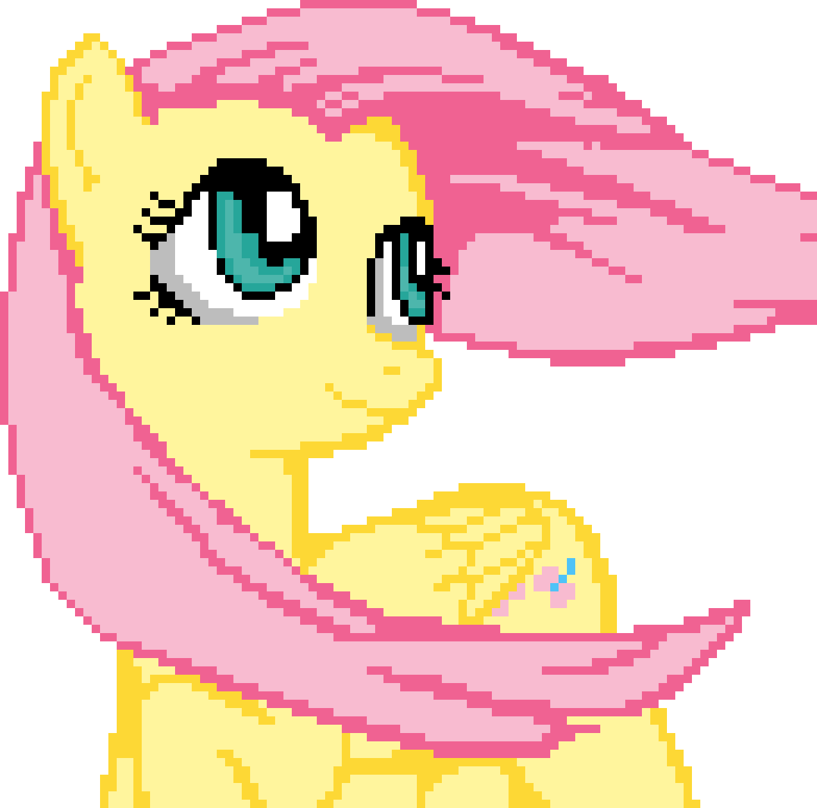 Fluttershy :)) pls like this, it look ages by Marleymoo4