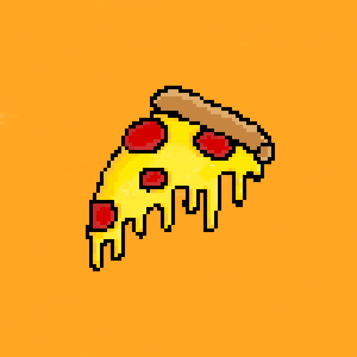 A slice of cheesy pizza by snappyjaw