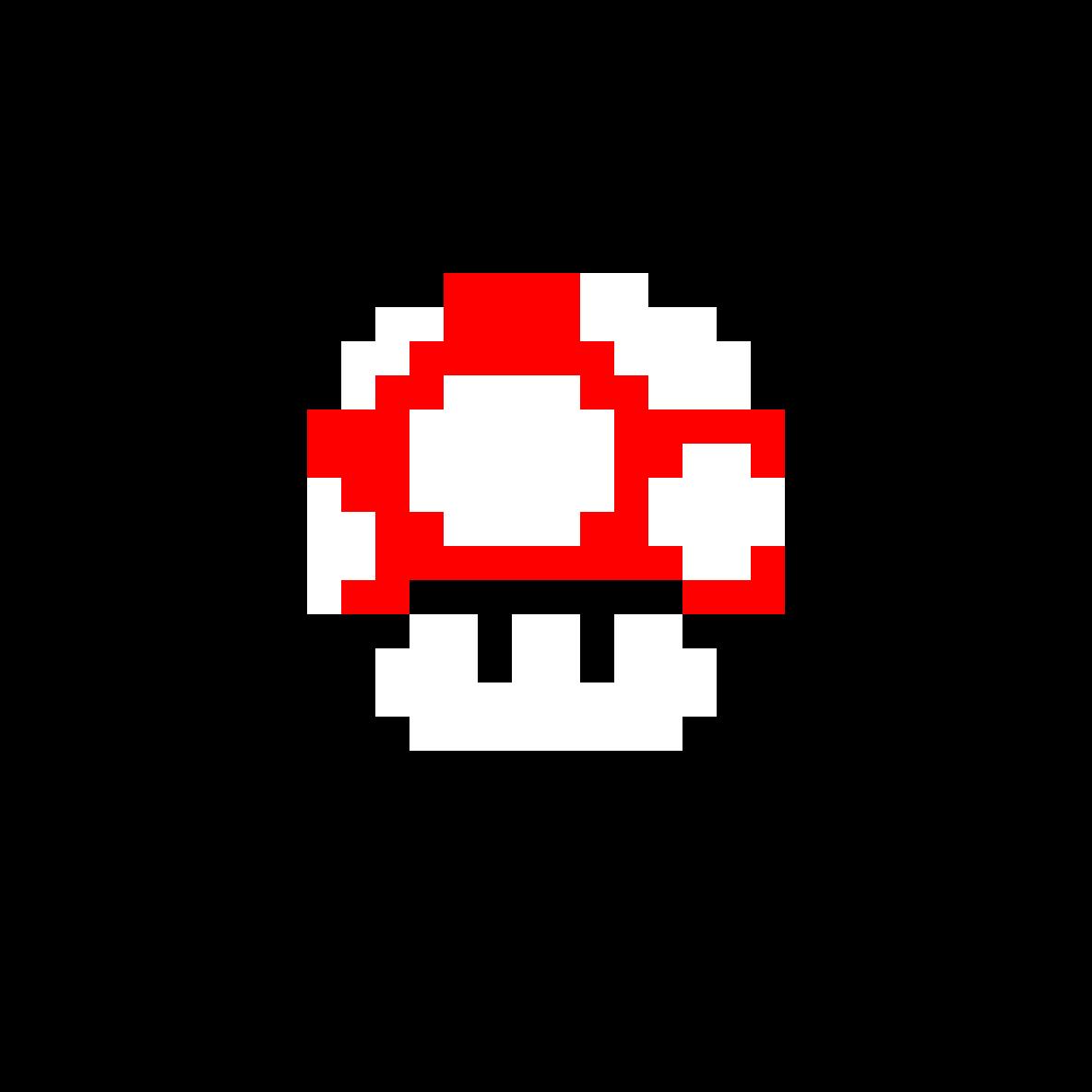 Super Mario Bros Red Mushroom by Insano
