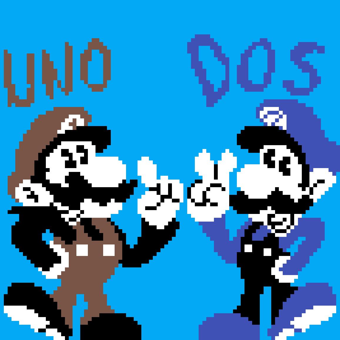 Uno and Dos by MarioBrosPix